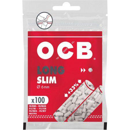 Filtro Para Cigarro OCB Long slim 6mm C/100