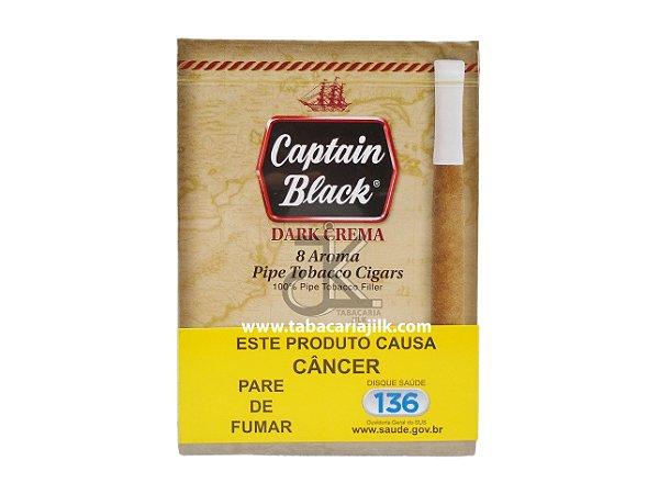 Cigarrilha Captain Black Dark Crema Com Piteira C/8