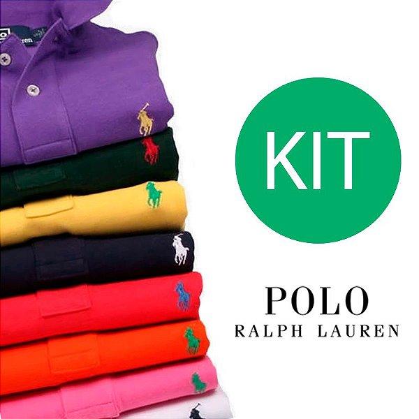 b17691a650e38 KIT Camisa Polo Masculina Ralph Lauren - Kuluku Shop