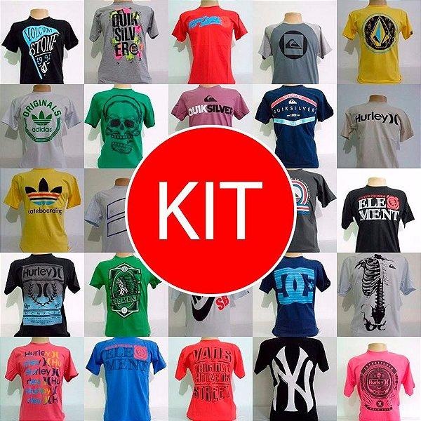 KIT Camisetas Masculinas de Surf Várias Marcas - Kuluku Shop 25c7dd8bf3