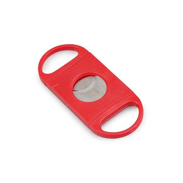 Cortador de Charutos Nerone (Lâmina Dupla) - Vermelho