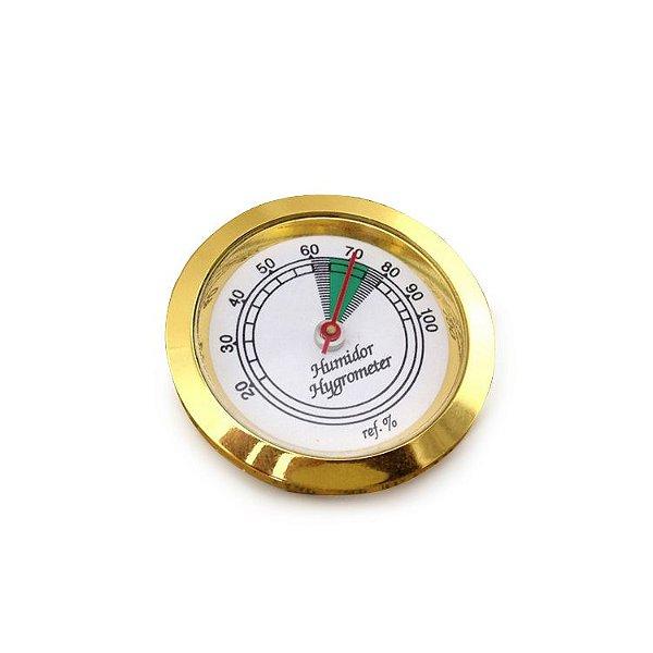 Higrômetro Analógico Meglio (37mm) - Dourado