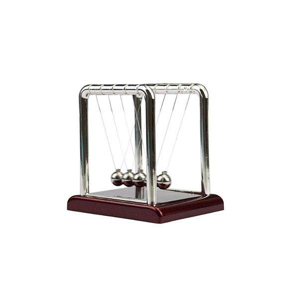 Enfeite Pêndulo De Newton Cromado - Médio