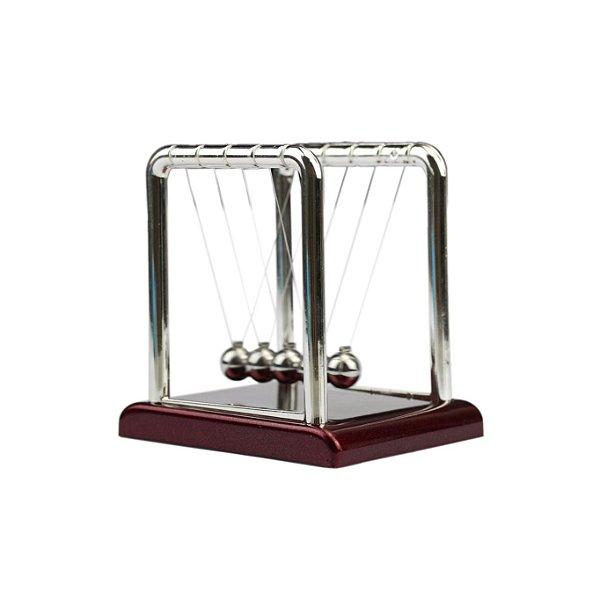 Enfeite Pêndulo De Newton Cromado - Grande