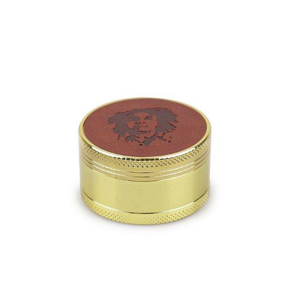 Dichavador de Metal Dourado - Hemp Leather (Sortido)