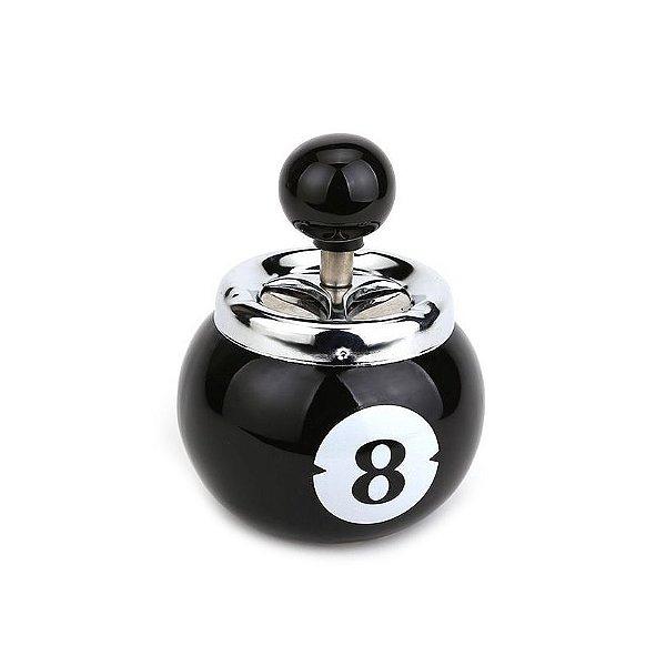 Cinzeiro De Cerâmica Tampa Giratória Para Cigarro - Bola 8