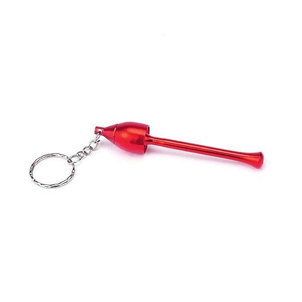 Pipe de Metal PME2 com Chaveiro - Vermelho
