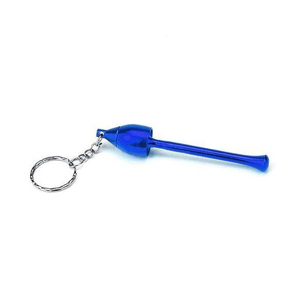 Pipe de Metal PME2 com Chaveiro - Azul