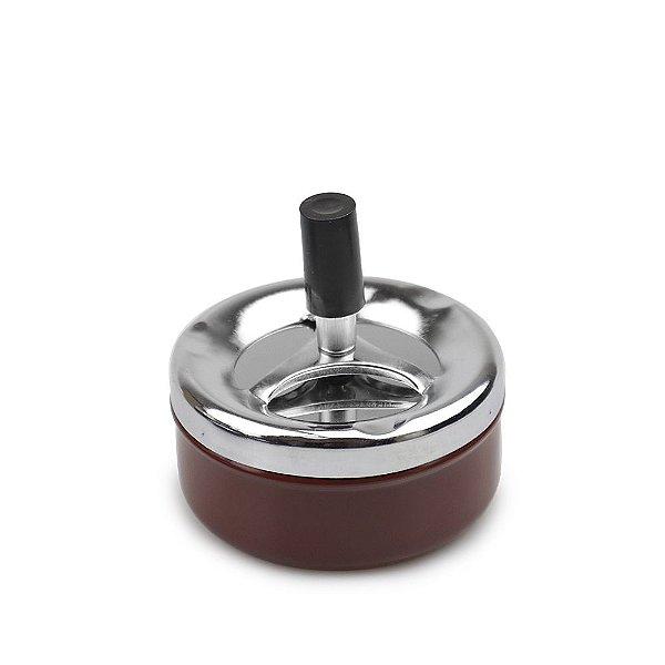 Cinzeiro de Alumínio com Tampa Giratória Pequeno Sleeve - Vinho