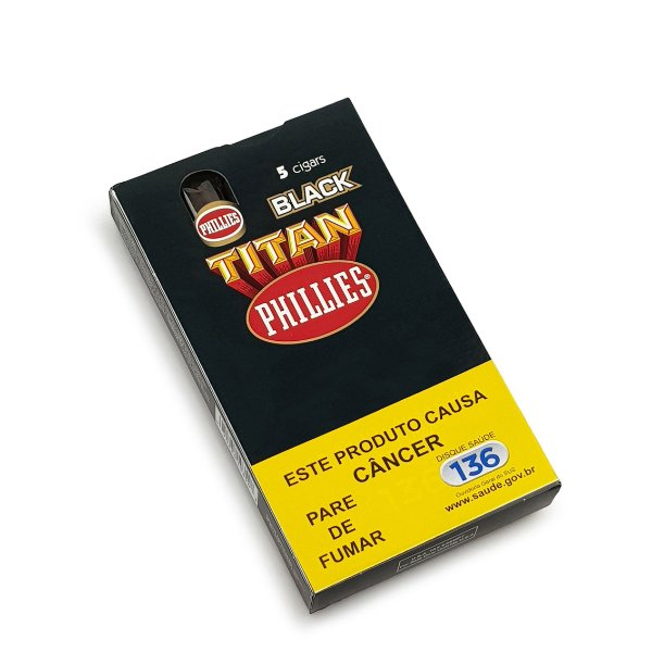 Charuto Phillies Titan Black - Petaca com 5