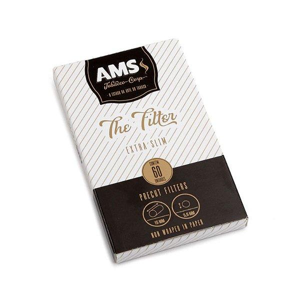 Filtro para Cigarro AMS Extra Slim de 5,5mm (Caixa com 60)