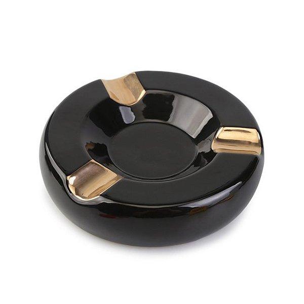 Cinzeiro de Ceramica para 3 Charutos Motier - Preto