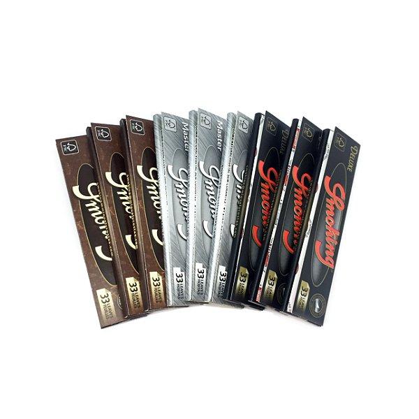 Kit com 9 Sedas Smoking King Size (Compre 9 e ECONOMIZE)