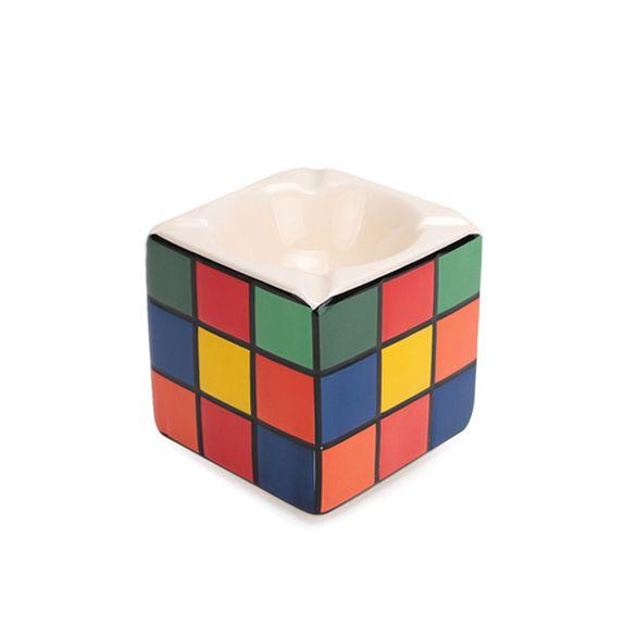Cinzeiro de Cerâmica Quadrado - Cubo Mágico