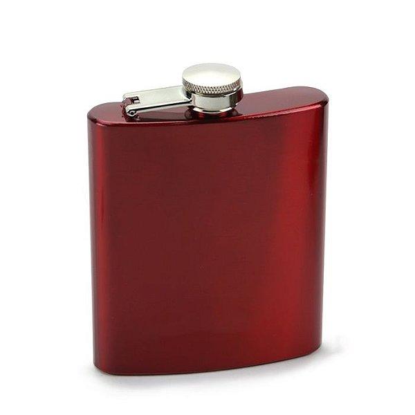 Cantil em Aço Inox - Vermelho (7oz)