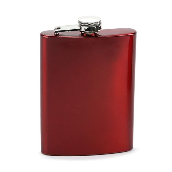 Cantil em Aço Inox - Vermelho (8oz)