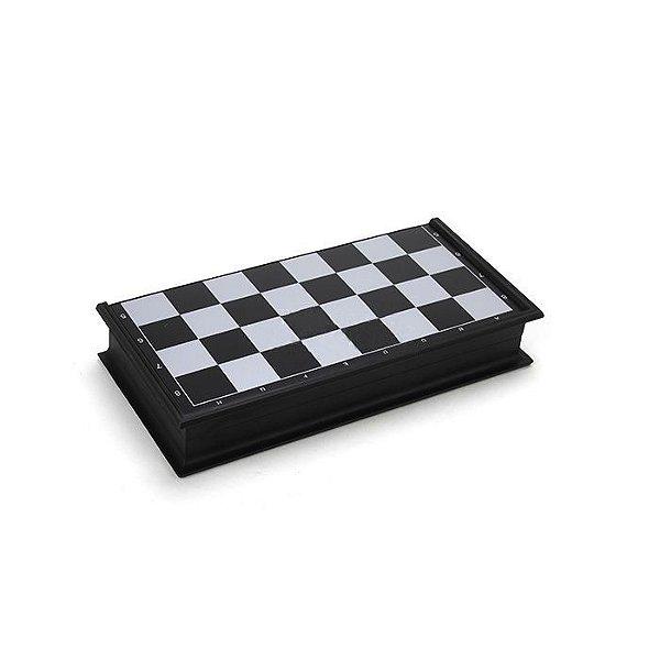Jogo de Xadrez Magnético para Viagem - Preto