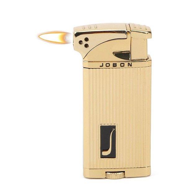 Isqueiro Jobon - Dourado Mod. 3 (Maçarico e Chama Normal)