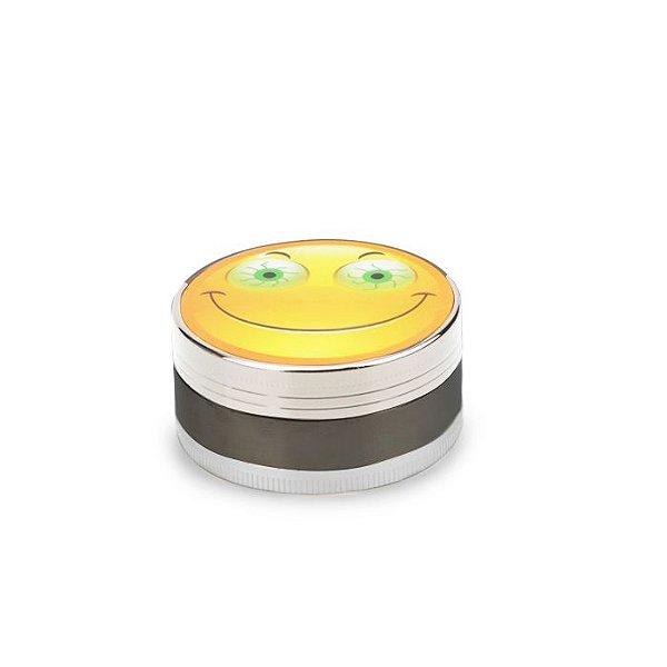 Dichavador de Metal Escovado (3 Partes) - Smile Stoned