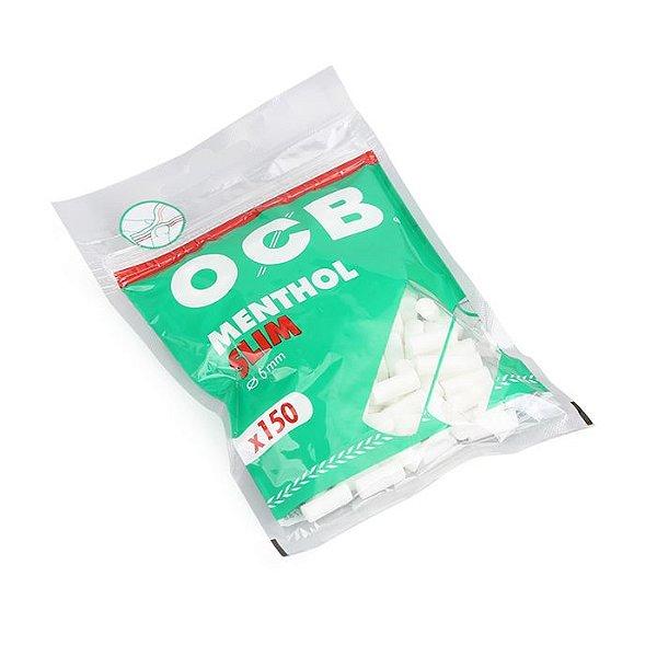 Filtro para Cigarro OCB Menthol Slim de 6mm (Pacote com 150)