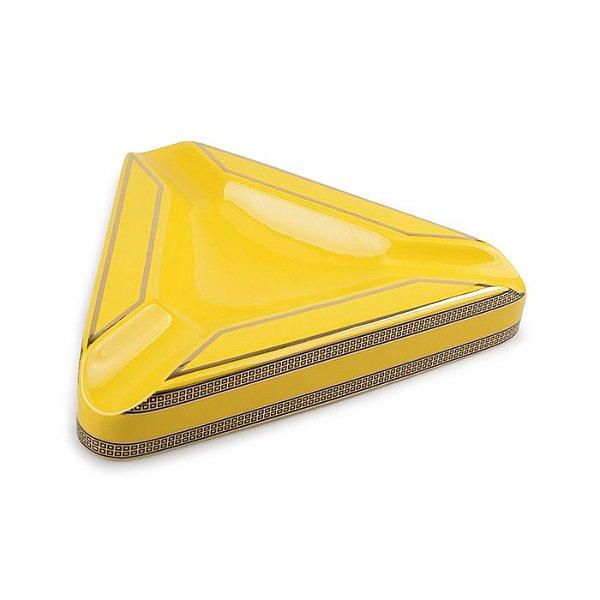 Cinzeiro de Ceramica para 3 Charutos Motier - Amarelo