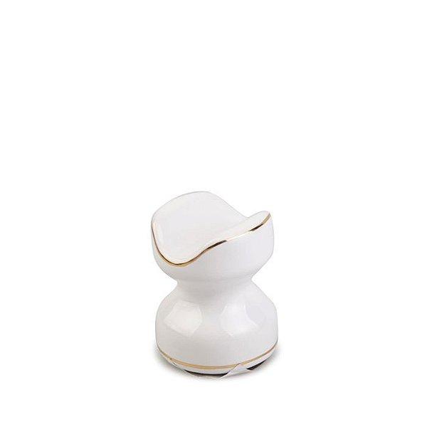Descanso (Apoio) de Charuto em Ceramica Meglio - Branco