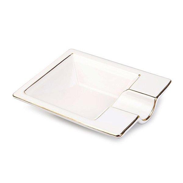 Cinzeiro de Ceramica para 1 Charuto Spheraf - Branco