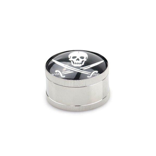 Dichavador de Metal Silver Cromado - Faces (Sortido)