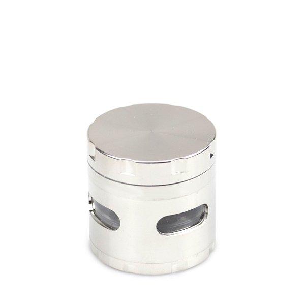 Dichavador de Metal Extra com Visor - Prata