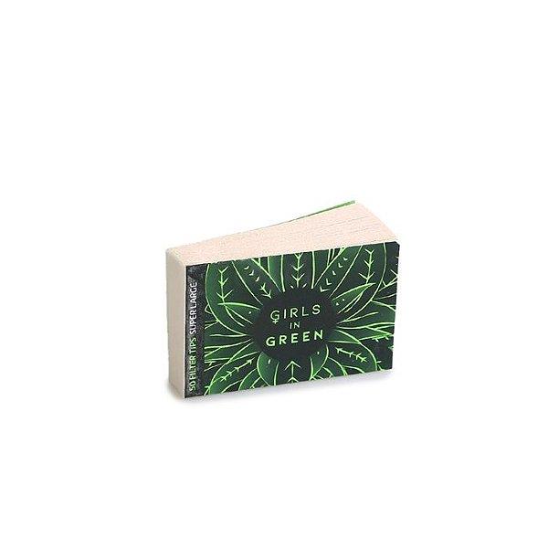 Piteira de Papel Bem Bolado Girls in Green Reciclado - Super Larger (Un.)