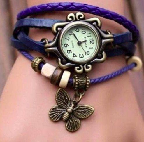 Relógio Azul Borboleta