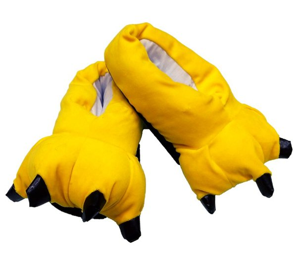 Pantufa Pata de Garra Pikachu Amarelo