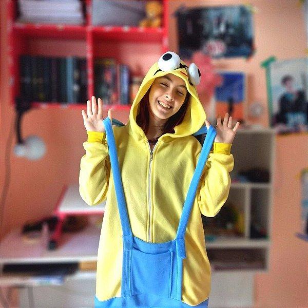 Pijama Kigurumi Fantasia Macacão Minion Meu Malvado Favorito