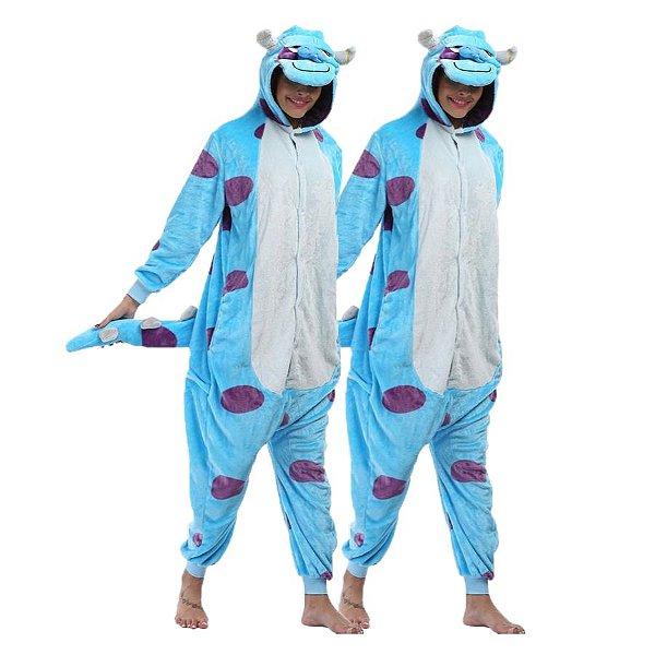 Kit 2 Pijamas Sullivan Kigurumi Monstros S.A Unissex