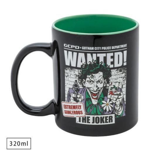 Caneca WB DC Joker Wanted DC Comics 320ml