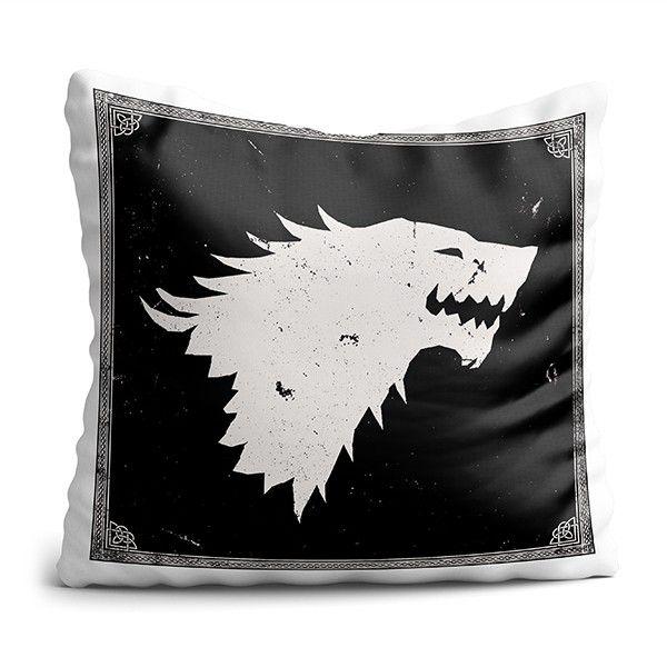 Almofada de House Lobo GOT Decoração Geek com Enchimento