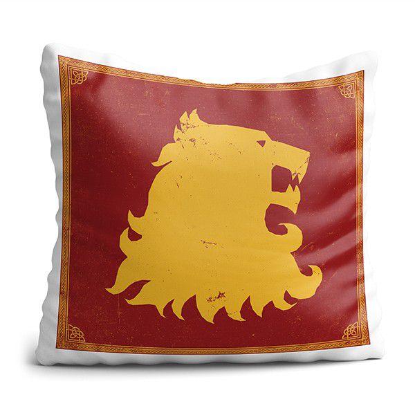 Almofada de House Leão GOT Decoração Geek com Enchimento
