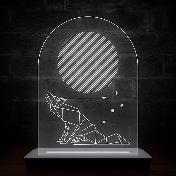 Luminária Lobo Efeitos Especiais de Led Decoração Geek
