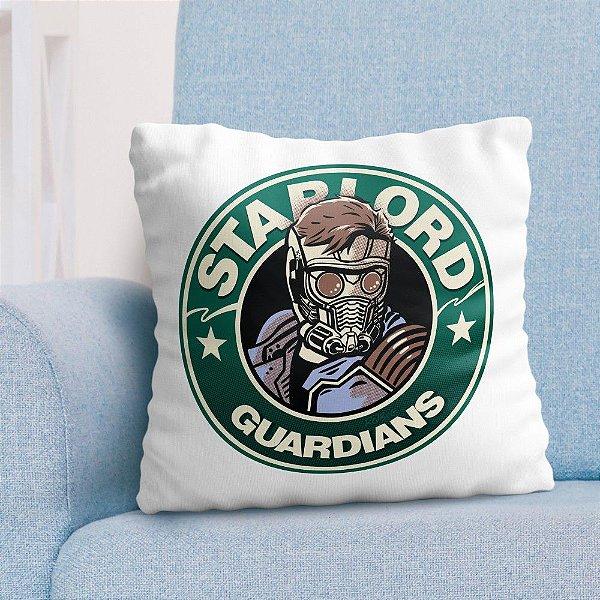 Almofada de Starlord Guardiões da Galaxia Geek Decoração Geek com Enchimento