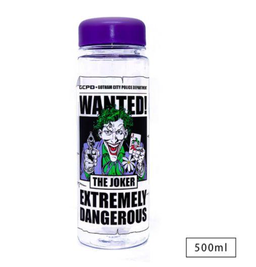 Garrafa Squeeze Joker Wanted Procurado Vilão DC Comics Coringa 500ml