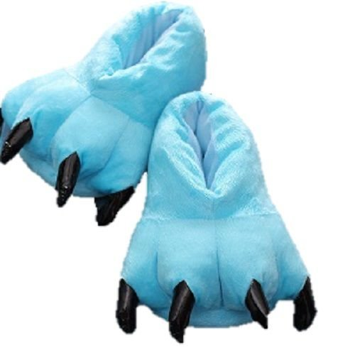 Pantufa Azul Pata de Garra Chinelo - Calça 35 a 39