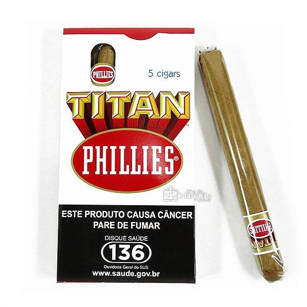 CHARUTO - PHILLIES TITAN TRADICIONAL MAÇO C/5 UNI