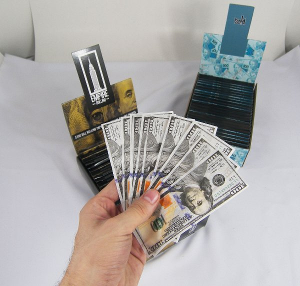 SEDA DÓLAR $100 - EMPIRE ROLLING PAPERS C/10 SEDAS