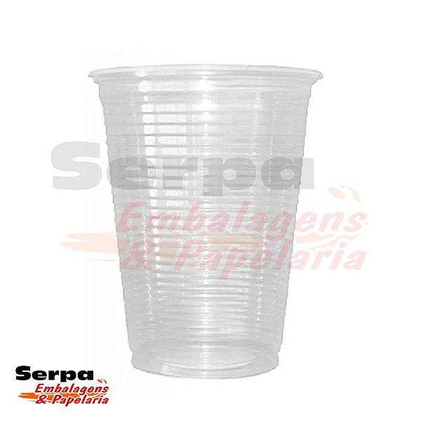 Copo Plástico 300ml Transparente - Caixa 2.000 ou Pacote 100 unidades TOTALPLAST