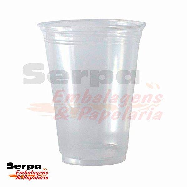 Copo Plástico 440ml LISO PP Transparente - Caixa 1.000 ou Pacote 50 unidades - COPOZAN