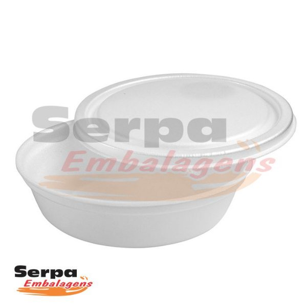 Marmita de Isopor com Tampa 1100ml - FM110 - Caixa 100 pcs - FIBRAFORM