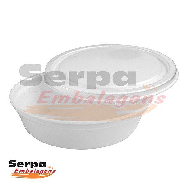 Marmita de Isopor SEM TAMPA 1100ml REF04 - Caixa 100 Unidades - Totalplast