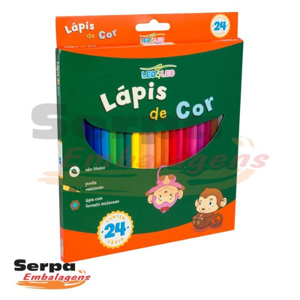 Lápis 24 cores