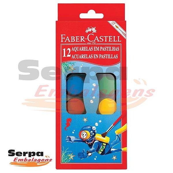 Aquarela em Pastilhas 12 Cores Faber Castell
