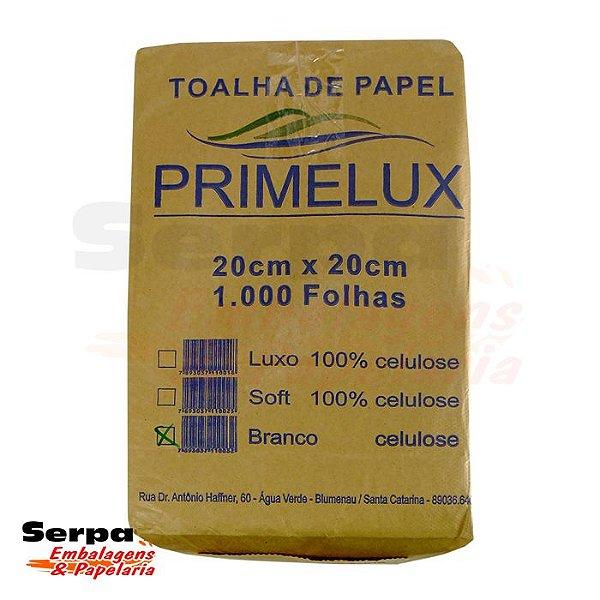 Papel Toalha Interfolhado Branco 20x20cm 1000 Folhas - PRIMELUX